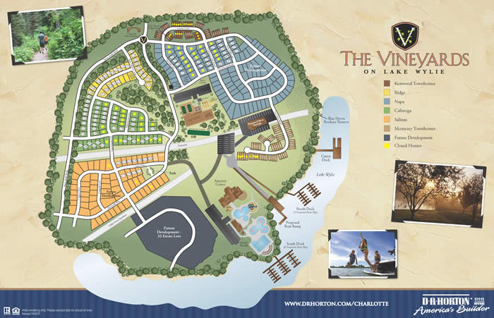 Vineyards on Lake Wylie site map